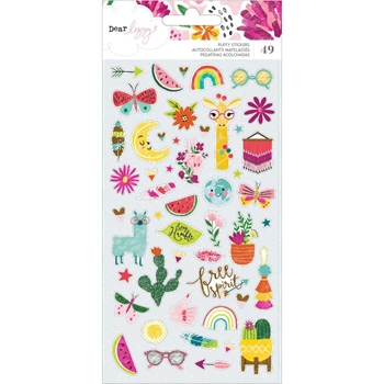 American Crafts Dear Lizzy PUFFY STICKERS New Day 349522