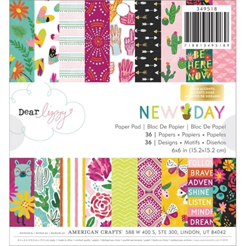 American Crafts Dear Lizzy NEW DAY 6x6 Inch Paper Pad 349518