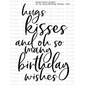 Picket Fence Studios OH SO MANY BIRTHDAY WISHES Clear Stamp s133
