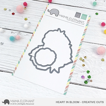 Mama Elephant HEART IN BLOOM Creative Cuts Steel Dies