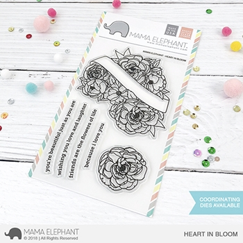 Mama Elephant Clear Stamps HEART IN BLOOM