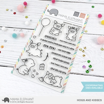 Mama Elephant Clear Stamps HOGS AND KISSES