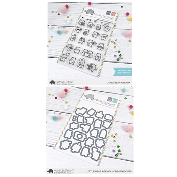 Mama Elephant Clear Stamp and Die MEPT568 Little Bear Agenda SET