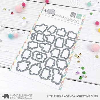 Mama Elephant LITTLE BEAR AGENDA Creative Cuts Steel Dies