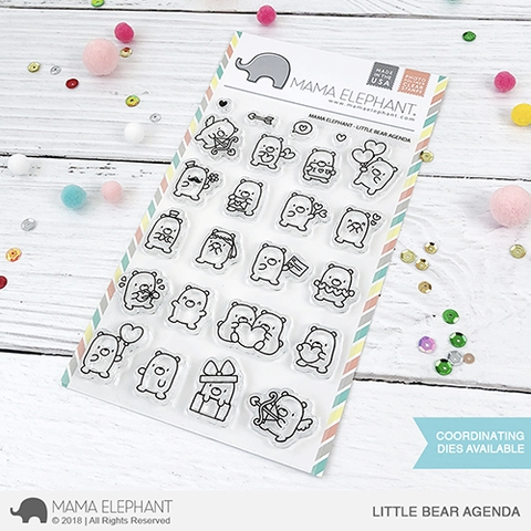 Mama Elephant Clear Stamps LITTLE BEAR AGENDA Preview Image