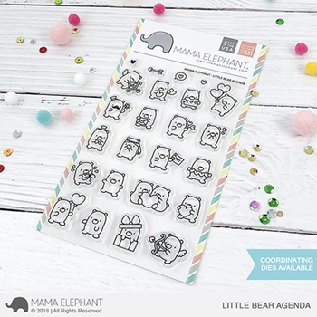 Mama Elephant Clear Stamps LITTLE BEAR AGENDA