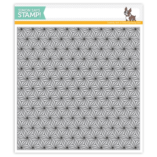 Simon Says Cling Rubber Stamp POINSETTIA BACKGROUND sss101950 Preview Image