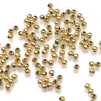 Darice 3MM ROUND GOLD Pearl Beads 04635