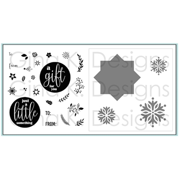 Gina K Designs TINY WREATH BUILDER BUNDLE Clear Stamps and Stencils 2866