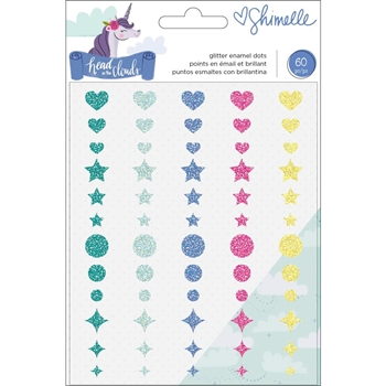 American Crafts Shimelle GLITTER ENAMEL DOTS Head in the Clouds 349466