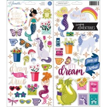American Crafts Shimelle ACCENT AND PHRASE Stickers Head in the Clouds 349467