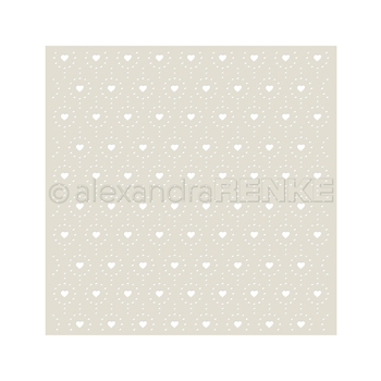 Alexandra Renke HEARTS AND DOTS PATTERN Stencil starmu0007