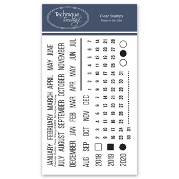 Technique Tuesday CALENDAR BUILDER Clear Stamps 02718
