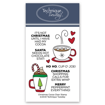 Technique Tuesday CHRISTMAS COCOA Clear Stamps 02720