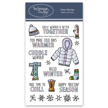 Technique Tuesday HELLO WINTER Clear Stamps 02744