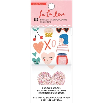 Crate Paper LA LA LOVE Sticker Roll 344557