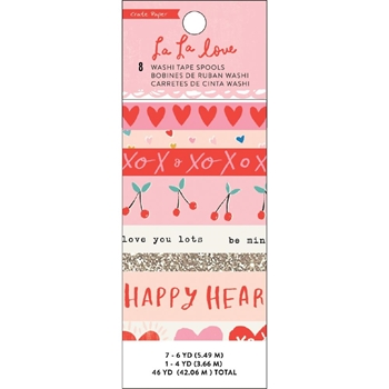 Crate Paper LA LA LOVE Washi Tape 344566