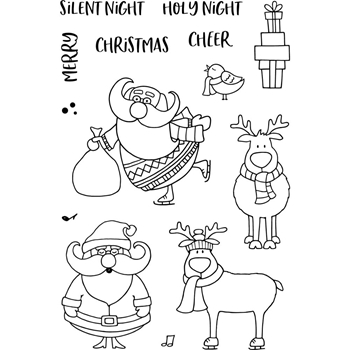 Jane's Doodles ST. NICK Clear Stamp Set 743481