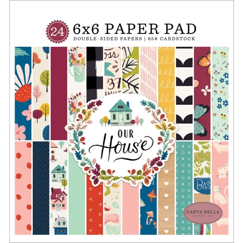 Carta Bella OUR HOUSE 6 x 6 Paper Pad cboh94023 Preview Image