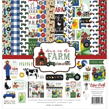 Echo Park DOWN ON THE FARM 12 x 12 Collection Kit do182016