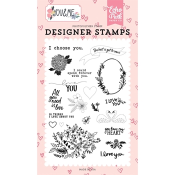Echo Park I CHOOSE YOU Clear Stamps ym168043