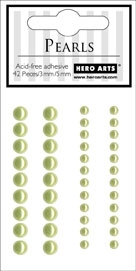 Hero Arts 42 Accent Pearls LIGHT GREEN ch174