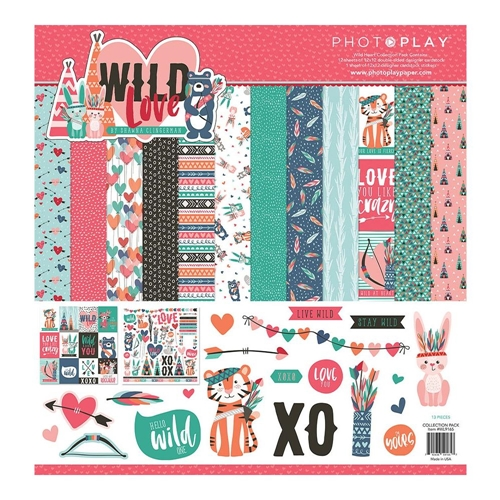 PhotoPlay WILD LOVE 12 x 12 Collection Pack wl9166 Preview Image