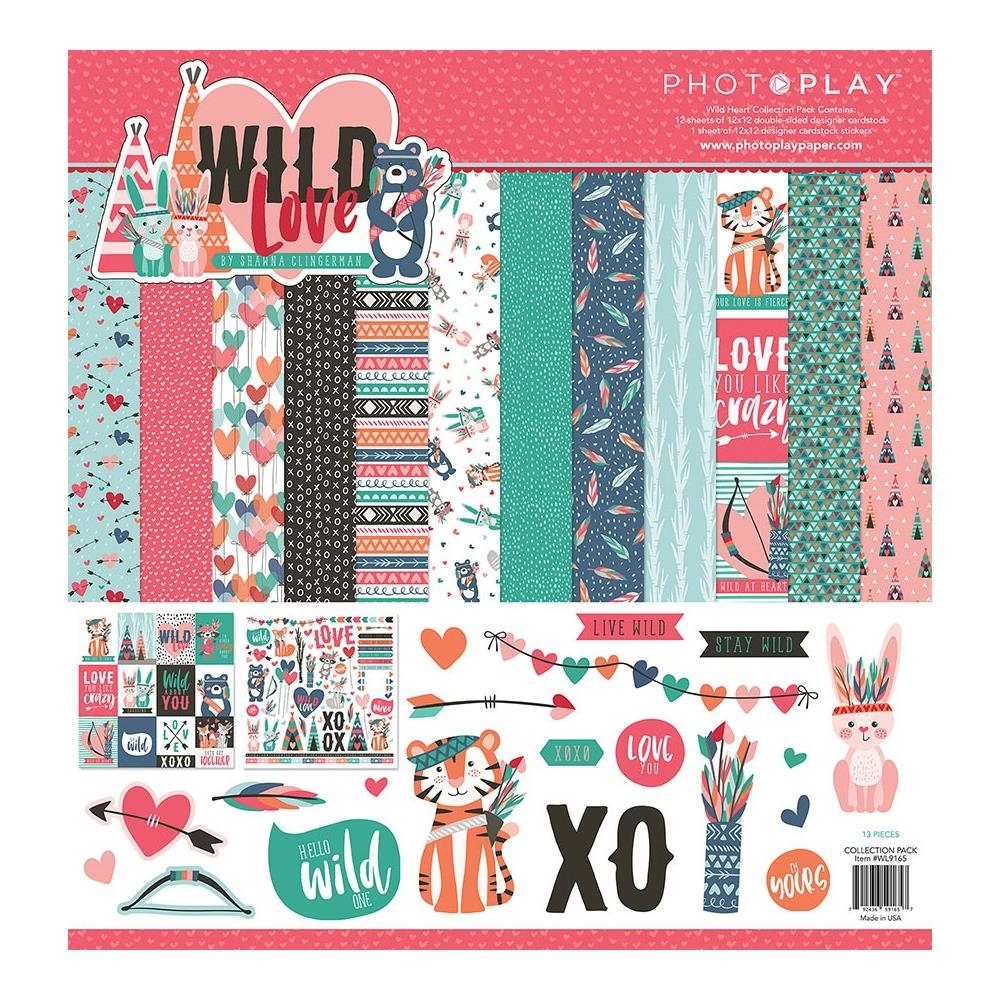 PhotoPlay WILD LOVE 12 x 12 Collection Pack wl9166 zoom image