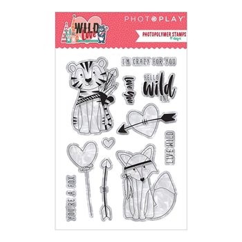 PhotoPlay WILD LOVE Clear Stamps wl9168