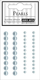 Hero Arts 42 Accent Pearls LIGHT BLUE ch169