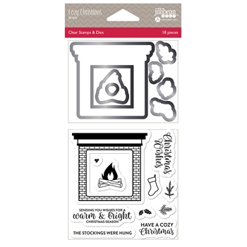 Jillibean Soup COZY CHRISTMAS Clear Stamp and Die Set jb1856
