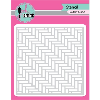 Pink and Main HERRINGBONE Stencil PMS005