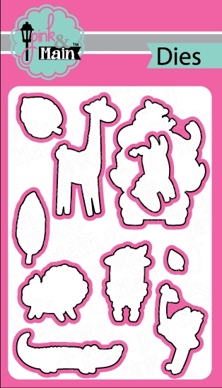 Pink and Main Wild Things Coordinating Die Set