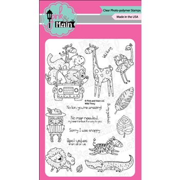 Pink and Main WILD THINGS Clear Stamps PM0313