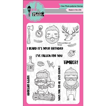 Pink and Main TIMBER Clear Stamps PM0312