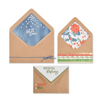 Sizzix ENVELOPE LINERS A2 & A7 CHRISTMAS Thinlits Die Set 663154