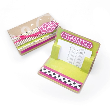 Sizzix GIFT CARD HOLDER POP- UP Thinlits Die Set 663181