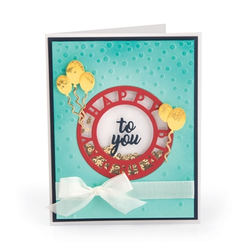 Sizzix HAPPY BIRTHDAY Impresslits Cut and Emboss Folder 663212