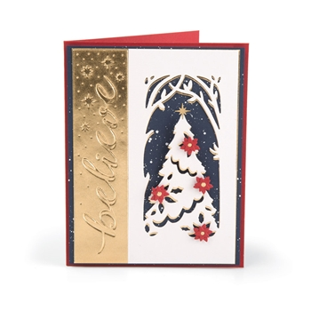 Sizzix MAGIC OF THE SEASON Impresslits Cut and Emboss Folder 663210