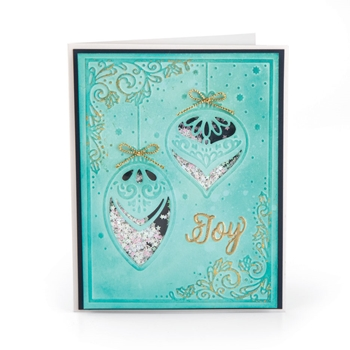 Sizzix SEASON OF JOY Impresslits Cut and Emboss Folder 663211