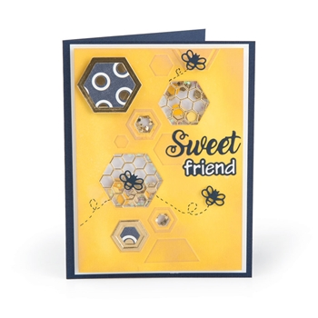 Sizzix SWEET FRIEND Impresslits Cut and Emboss Folder 663213