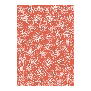 Sizzix Textured Impressions Plus FLORES NAVIDENAS (CHRISTMAS FLOWERS) Embossing Folder 663226