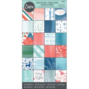 Sizzix WINTER GREETINGS 6x12 Cardstock Pad 663149