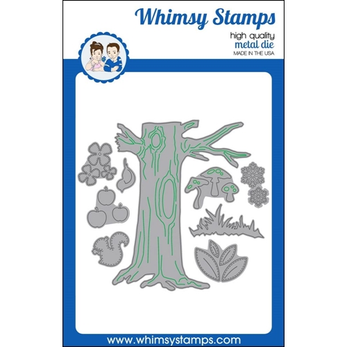 Whimsy Stamps NO-SEE ALL SEASONS TREE Dies WSD322 Preview Image