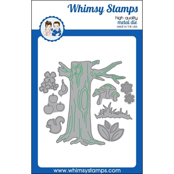 Whimsy Stamps NO-SEE ALL SEASONS TREE Dies WSD322