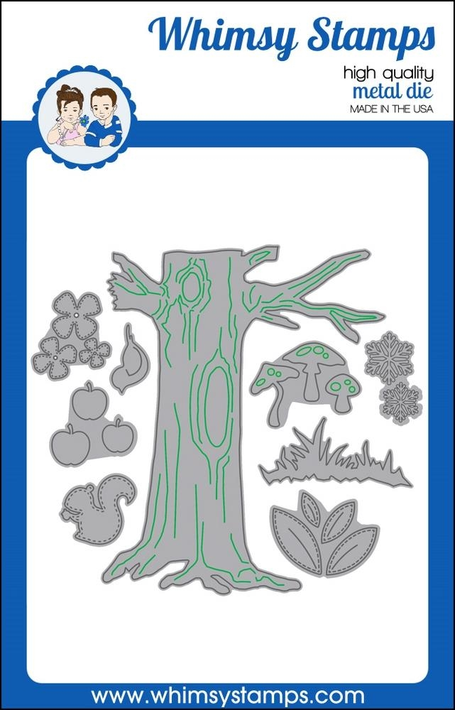 Whimsy Stamps NO-SEE ALL SEASONS TREE Dies WSD322 zoom image