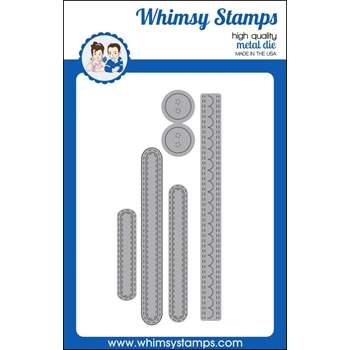 Whimsy Stamps KINETIC STRAIGHT BASICS Dies WSD318