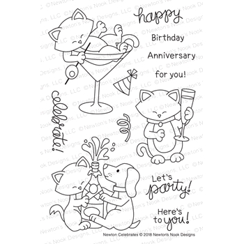 Newton's Nook Designs NEWTON CELEBRATES Clear Stamps NN1811S03