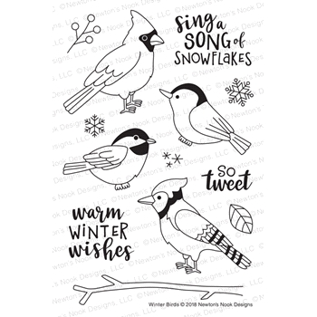Newton's Nook Designs WINTER BIRDS Clear Stamps NN1811S02