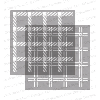 Newton's Nook Designs PLAID Stencil Set NN1811T02